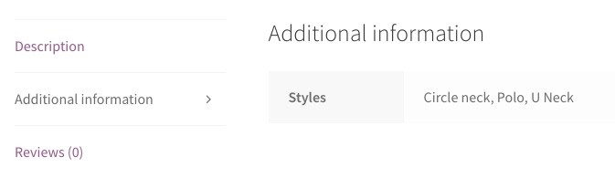 woocommerce variations additional information