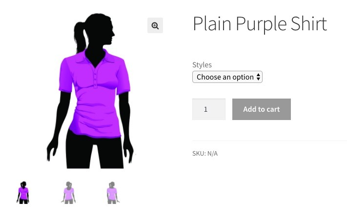 woocommerce variations and variable products